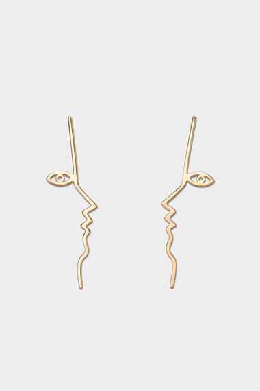 Dina Earrings, Vermeil